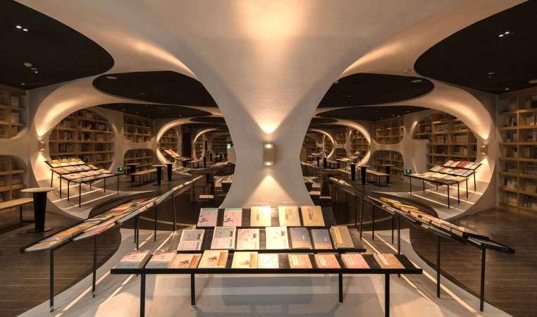 http://inhabitat.com/a-trippy-reflective-floor-multiplies-books-in-the-yangzhou-zhongshuge-bookshop/yangzhou-zhongshuge-bookshop-by-xl-muse-5/