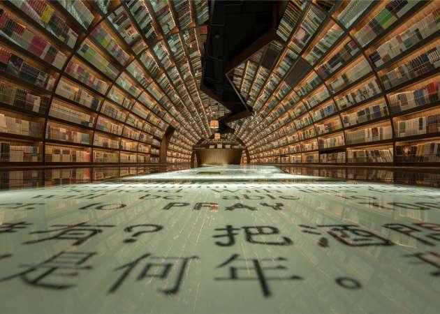 http://www.dezeen.com/2016/07/09/yangzhou-zhongshuge-bookshop-yangzhou-china-xl-muse-li-xiang-tunnel-books/