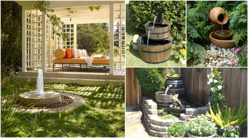 17 awesome garden fountain ideas you can have for your backyard