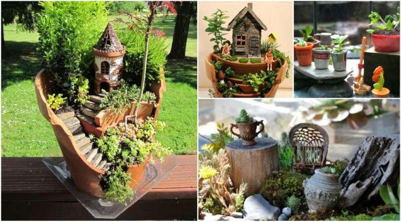 15 DIY Fairy Miniature Garden Ideas Using Common Household Items