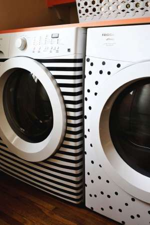 http://www.abeautifulmess.com/2013/11/stripes-and-dots-elsies-washer-dryer-makeover.html