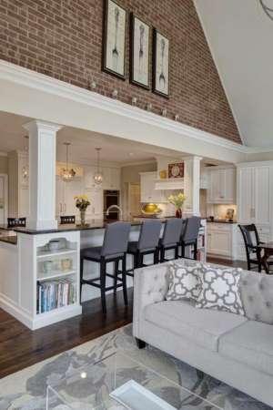 cuisine-avec-bar-cuisine-ouverte-dans-une-maison-moderne ...