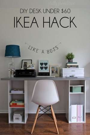 18 excellent ikea desk hacks you should try healthy mind for Small clear desk