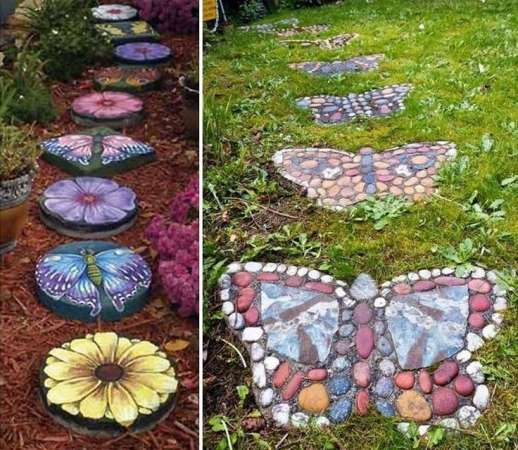 http://alwaysintrend.com/creative-garden-decorating-ideas-with-rocks-and-stones/