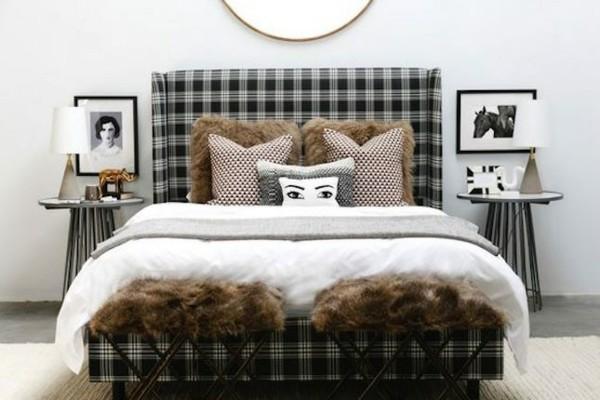 siyah desen yatak odası takımı