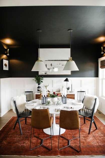 siyah renk yemek masası