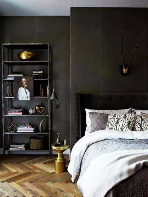 yatak odasında siyahın güzelliği