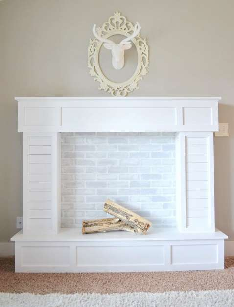 http://www.shelterness.com/faux-fireplace-mantel-decor/